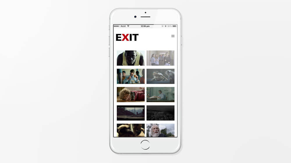 PLOT produced the mobile templates for EXIT Films.