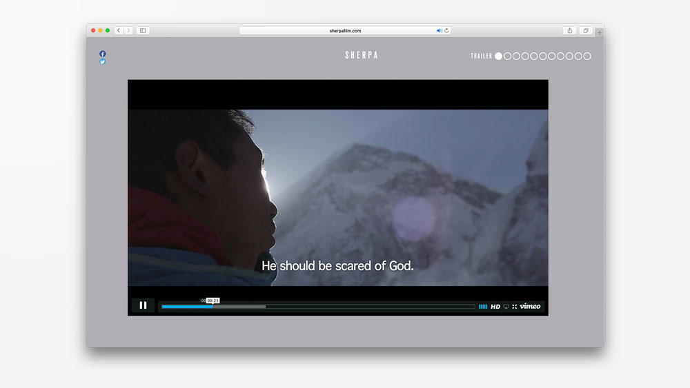 PLOT produced the website for Sherpa – Trouble on Everest.