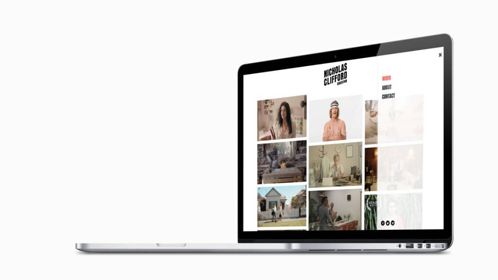 Website designed and developed by PLOT for for director, Nick Clifford.