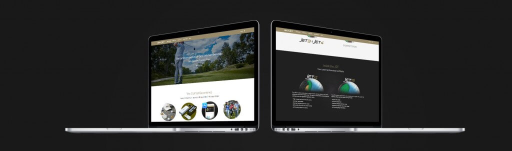 PLOT produced website GolfJet with Woocommerce
